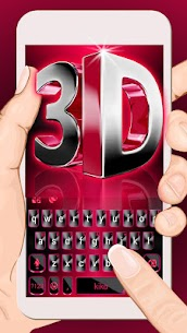 Classic 3d Red Keyboard Theme 1.0 APK with Mod + Data 1
