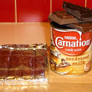 Condensed Milk and Chocolate Truffles.