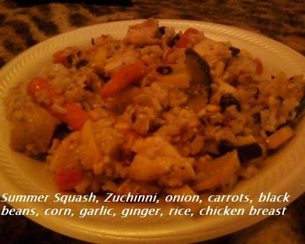 A Delicious Variation To An Alternative Chicken Or Pork Stir Fried Rice
