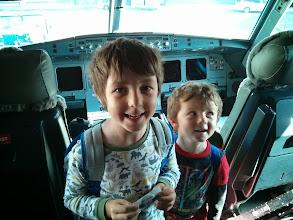 Photo: Clark and Finn Air Canada Cockpit Tour