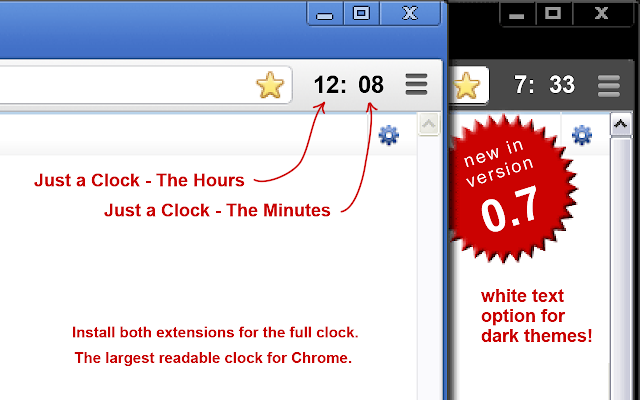 Just a Clock - the Hours chrome extension
