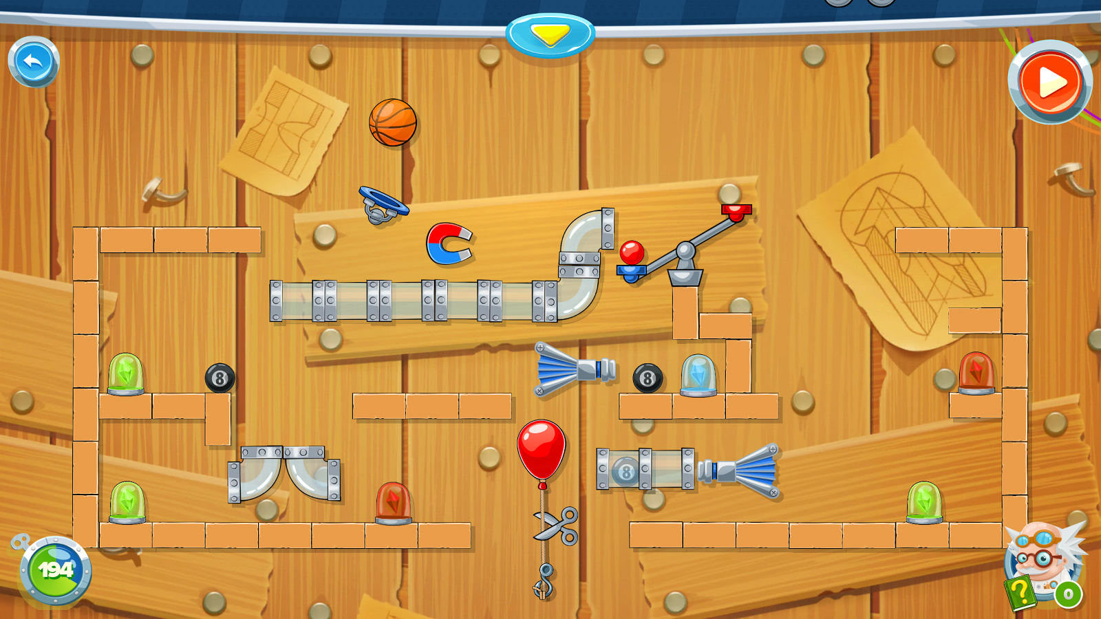 Rube's Lab - Physics Puzzle- screenshot