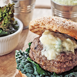 Beef Burger With Grilled Kale