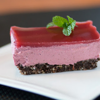 Healthy Strawberry Cheesecake.
