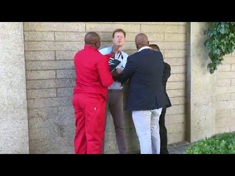 a093cb6d7f EFF deputy president Floyd Shivambu has been caught on camera intimidating  a multimedia journalist outside parliament