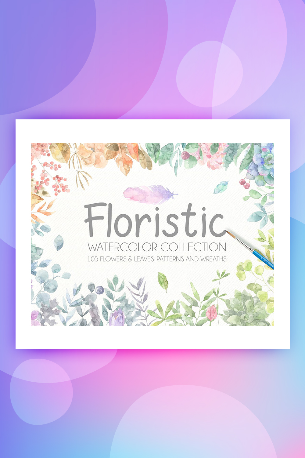 Floristic Watercolor Collection Illustration