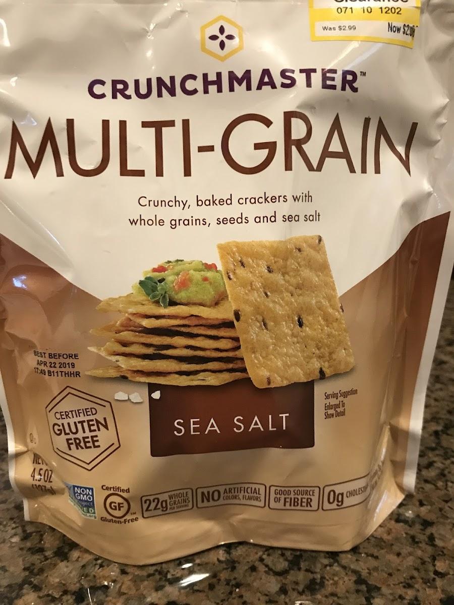 Multi-Grain Crackers, Sea Salt