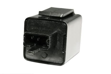 blinkersrelä, 12 V, smal 3-vägs plug med 2 stift