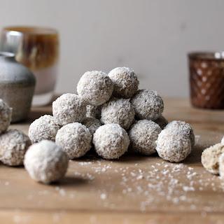Coconut Vanilla Protein Truffles.