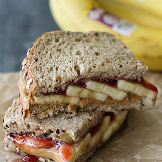 Banana Peanut Butter and Jelly Sammie.