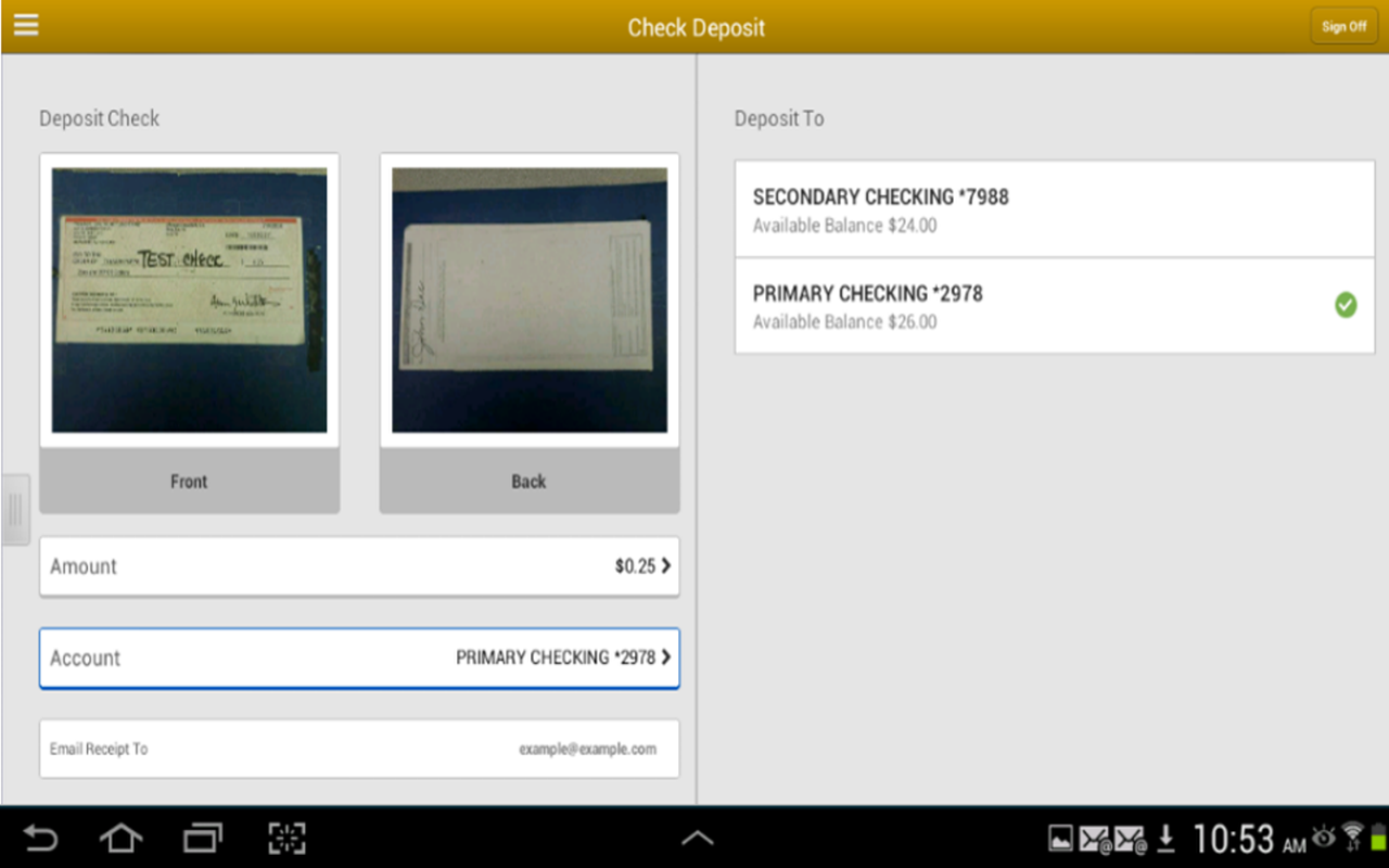 Alliance Bank Business Tablet- screenshot