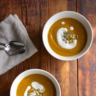 Roasted Kabocha Squash, Pear, and Ginger Soup.