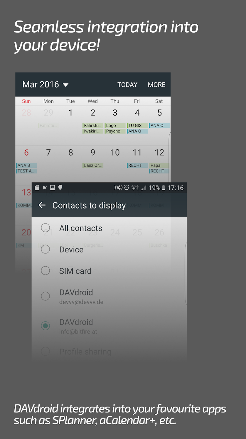 DAVdroid – CalDAV/CardDAV Synchronization Screenshot 4