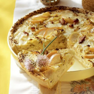 Fermented Cabbage and Bacon Pie