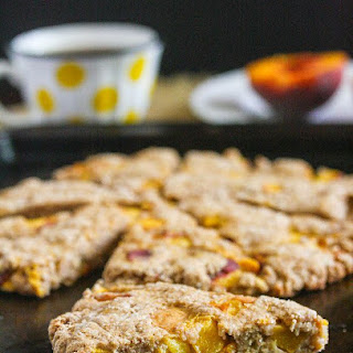 Peaches and Cream Scones