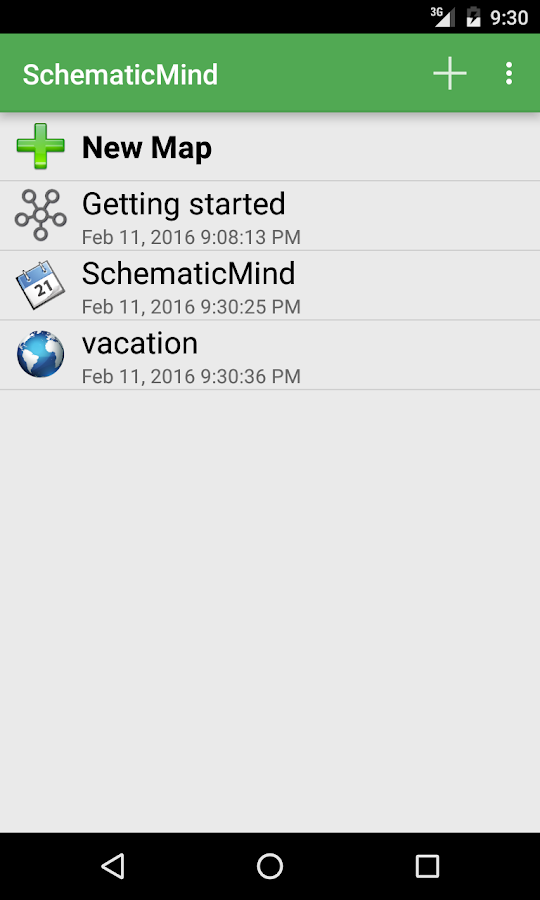 SchematicMind Free mind map- screenshot