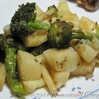 Roasted Broccoli Parsnip Medley Recipe