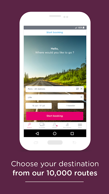 OUIBUS – Travel by bus Android App Screenshot