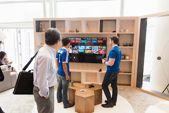 Photo: Or Android TV in the living room.