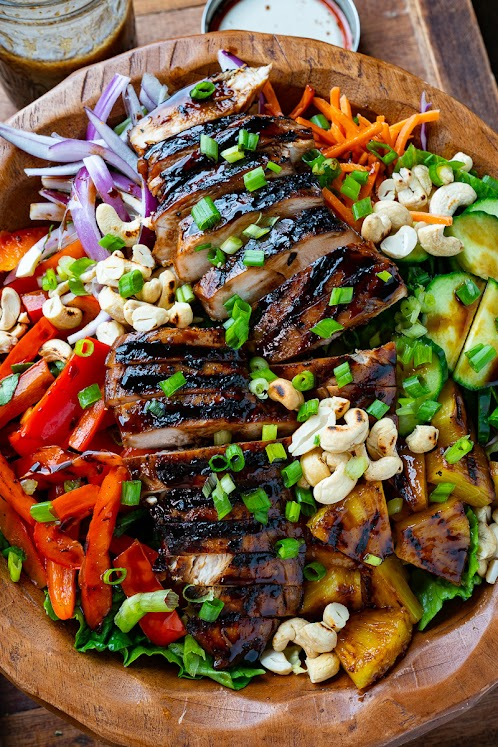 Grilled Chicken Teriyaki and Pineapple Salad