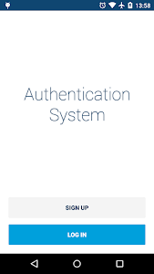 Android Authentication System screenshot 0