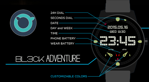 Adventure Digital Watch Face