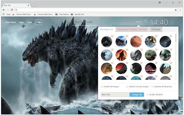 Godzilla Wallpaper King of Monsters New Tab