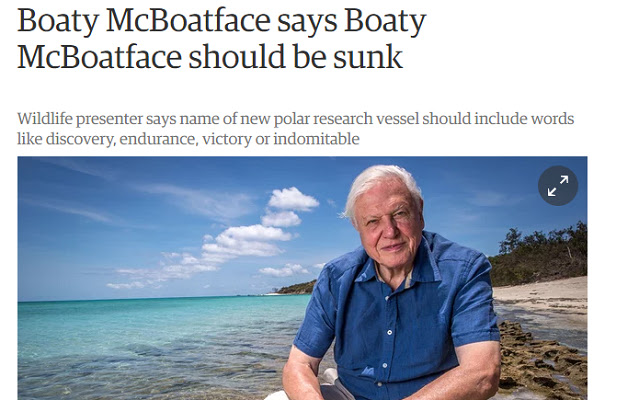 De-Attenborough/Re-McBoatface