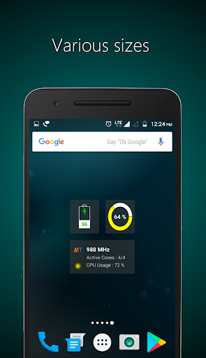 Widgets - CPU | RAM | Battery  screenshots 4