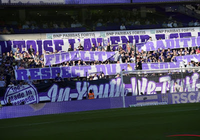 Les supporters d'Anderlecht mécontents suite à la décision du club