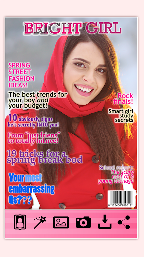 雜誌封面攝影蒙太奇
