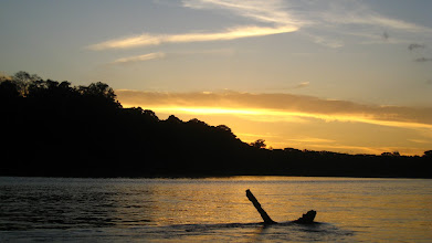 Photo: Sunset at Boca Manu