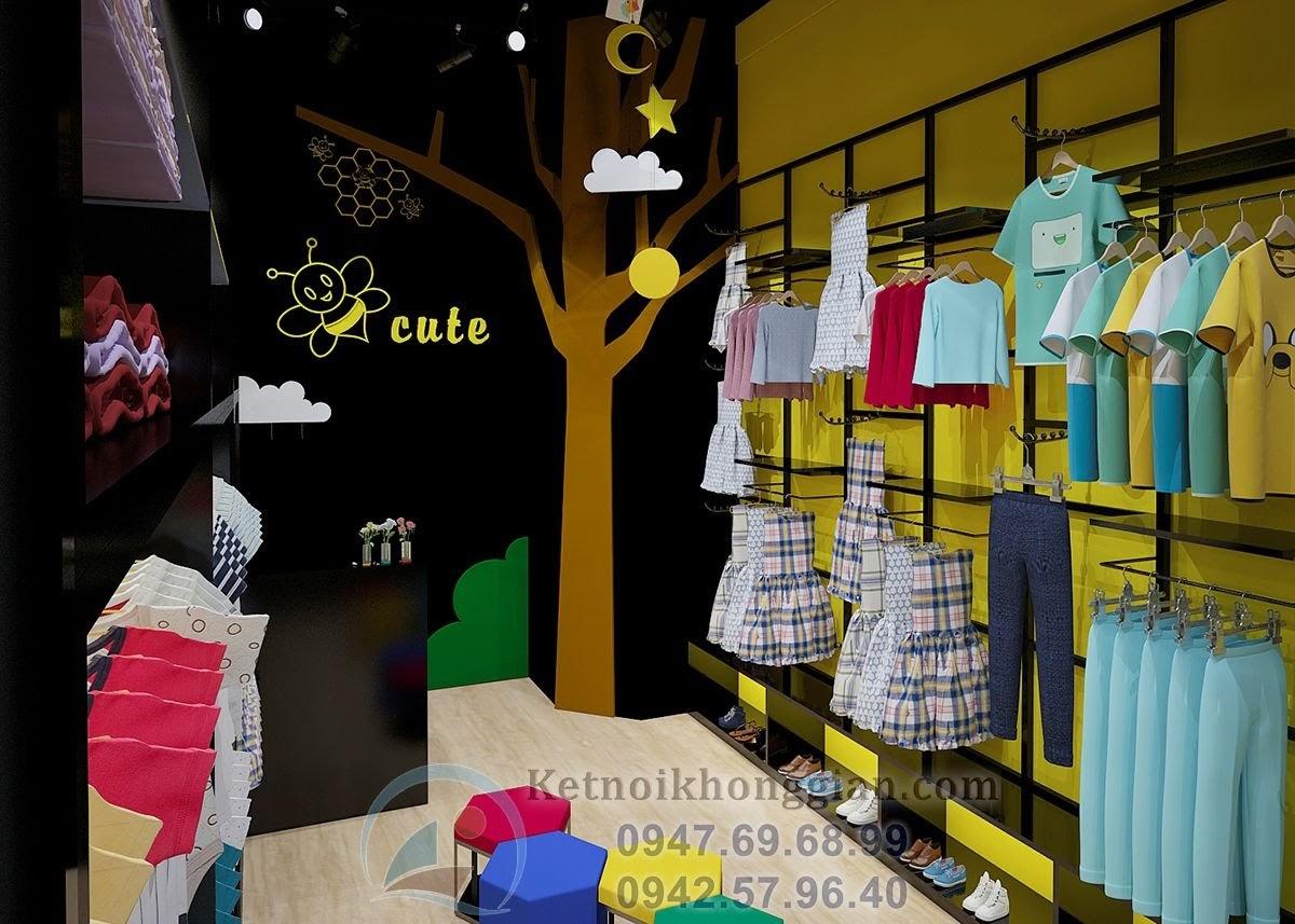 thiết kế shop thời trang trẻ em nhỏ đẹp mắt