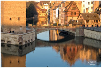 """Photo: The city is chiefly known for its sandstone Gothic Cathedral with its famous astronomical clock, and for its medieval cityscape of Rhineland black and white timber-framed buildings, particularly in the Petite-France district or Gerberviertel (""""tanners' district"""") alongside the Ill and in the streets and squares surrounding the cathedral, where the renowned Maison Kammerzell stands out."""