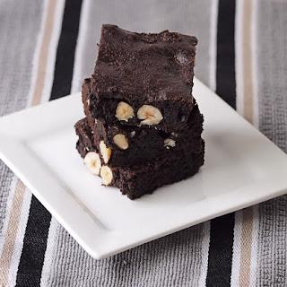 Dark Chocolate Hazelnut Brownies