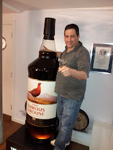 Photo: Dan found a bottle of whisky bigger than him at Famous Grouse.