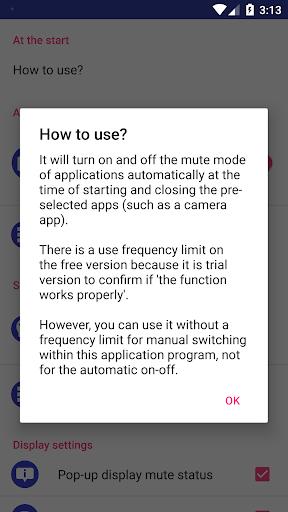 Silent Mode/All Mute Mode (Camera Mute)  PC u7528 2
