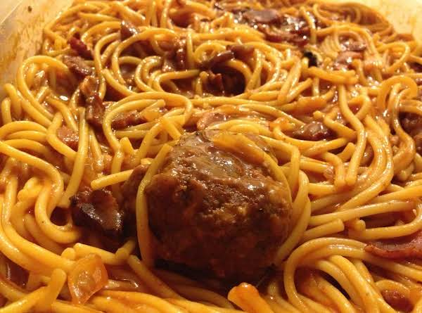 Grandma's Spaghetti And Meatballs