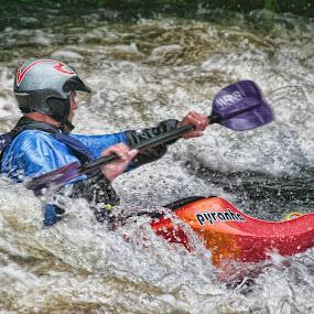 Shooting The Rapids by Tony Munro - Sports & Fitness Watersports ( #kayaking, #lifeonthewater, #funonthewater, #outdoorpursuits, #watersports, #whitewater, #stayingafloat, #nationalwhitewaterraftingcentre )