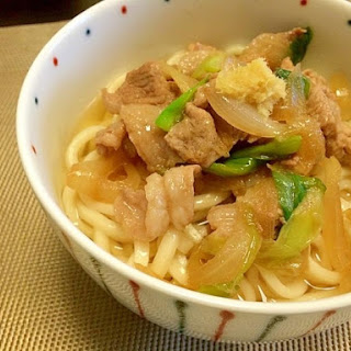 Meaty Sanuki Udon Noodles with Rich Ginger Broth