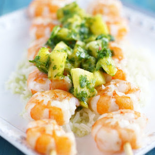 Grilled Shrimp with Pineapple Chimichurri. Recipe