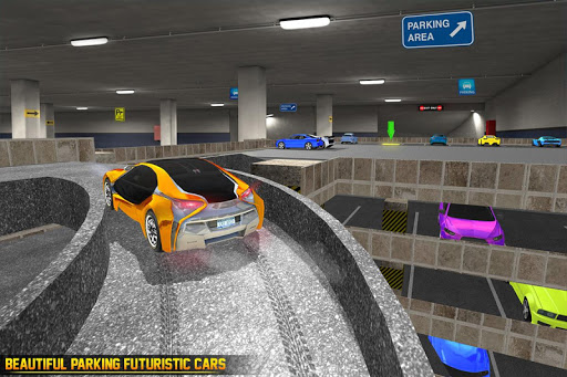 US Futuristic Car Parking: Free Parking Games  screenshots 2