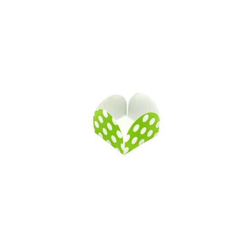 capacillos altolitho verde estampados circulos/rayas 25und
