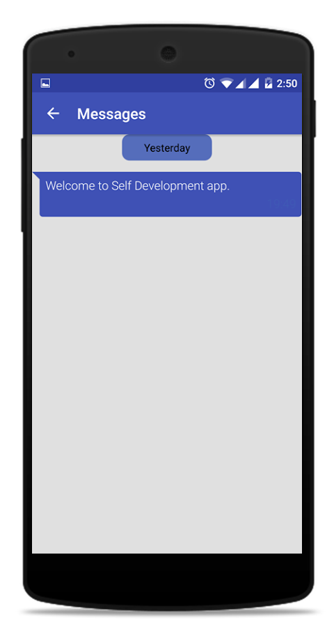 Self Development- screenshot