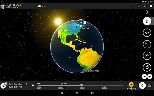 MeteoEarth screenshot for Android