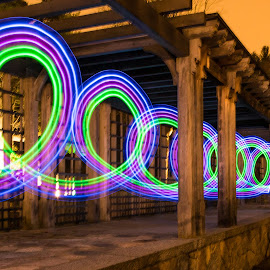 Spiral of Light by Carl Albro - Abstract Light Painting ( structure, light painting, spiral,  )