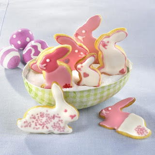 Pink Easter Bunny Cookies.