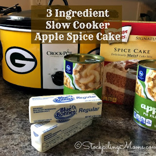 3 Ingredient Slow Cooker Apple Spice Cake.