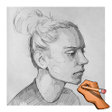 Learn to Draw Woman Face Step by Step Offline icon