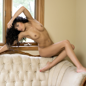 Nude on couch  by Brian Sadowski - Nudes & Boudoir Artistic Nude ( sexy, couch, girl, nude, long hair, boudoir, breasts, art, beautiful, legs, brunette )